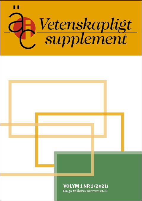 Omslag Äldre i Centrum Vetenskapligt supplement, volym 1, nr 1 2021