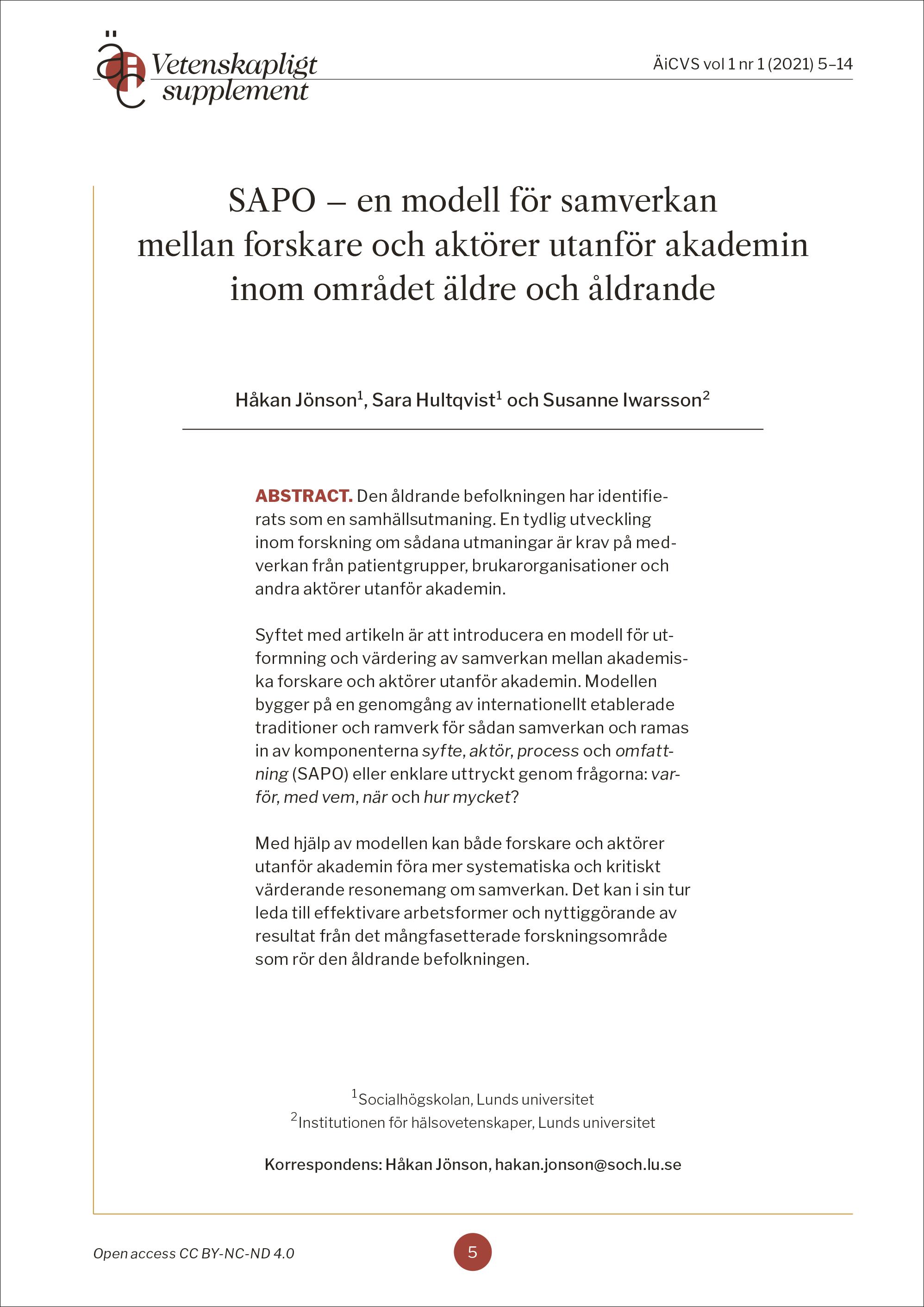 Titelsida för artikel Jönson m fl